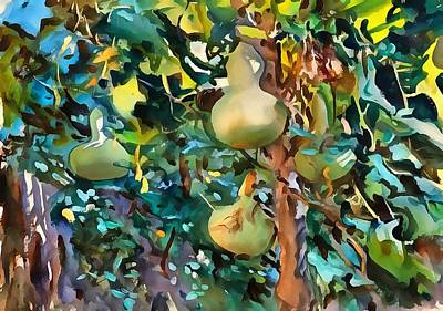 Painting - Gourds After John Singer Sargent by Tracey Harrington-Simpson