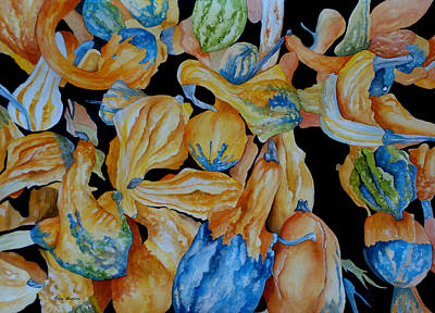 Painting - Gourds Galore by Rosie Brown