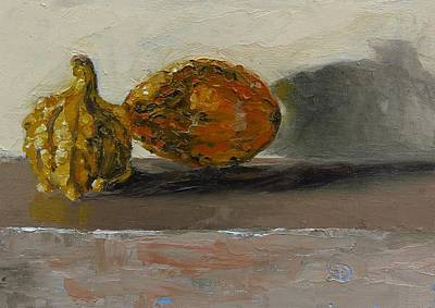 Still Life Painting - Gourds No. 3 by Grace Diehl