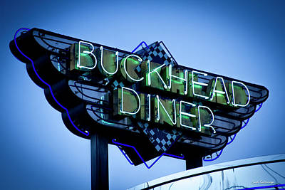 Photograph - Gourmet Dinning The Buckhead Diner Collection Atlanta Buckhead Art by Reid Callaway