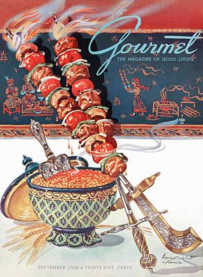 Painting - Gourmet Magazine September 1948 by Henry Stahlhut