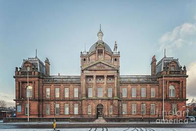 Photograph - Govan Town Hall Facade by Antony McAulay
