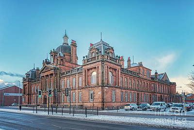 Photograph - Govan Town Hall Right Side View by Antony McAulay