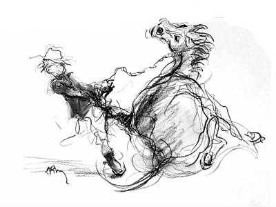 Drawing - Government Horse by Paul Miller