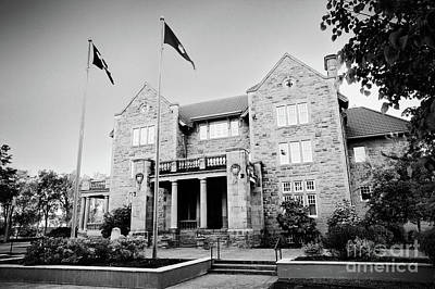 Government House Black And White Print by Ian MacDonald