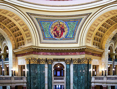 Photograph - Government Mural - Capitol - Madison - Wisconsin by Steven Ralser