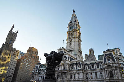 Cityhall Digital Art - Government Of The People And City Hall Philadelphia by Bill Cannon