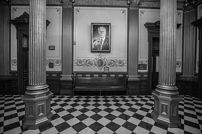 Photograph - Governor Ford Portrait In Michigan Capitol  by John McGraw