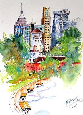 Painting - Governor's House, Hong Kong by Betty M M Wong