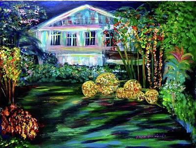 Painting - Governor's House Of Nakornnayok Province by Wanvisa Klawklean