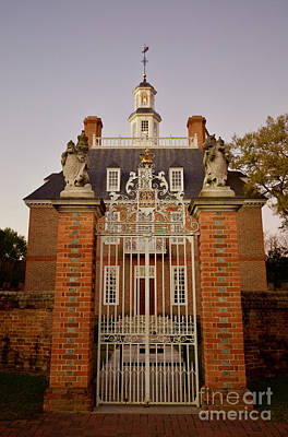 Governor's Palace Entrance Gates Art Print