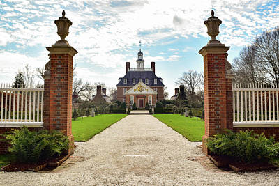 Photograph - Governor's Palace In Williamsburg, Virginia by Nicole Lewis