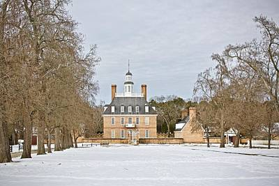 Governor's Palace Snow Scene Art Print