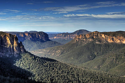 Photograph - Govetts Leap Grose Valley Blue Mountains Australia  by David Iori