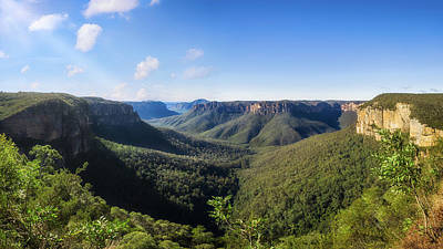 Photograph - Govetts Leap Lookout Panorama, Australia by Daniela Constantinescu