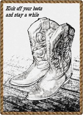 Photograph - Cow Girl Boots Quote by Ellen O'Reilly