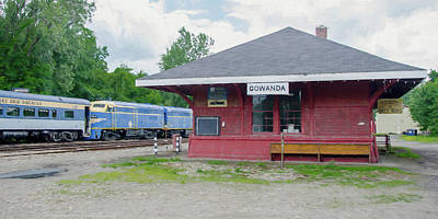 Photograph - Gowanda Station by Guy Whiteley