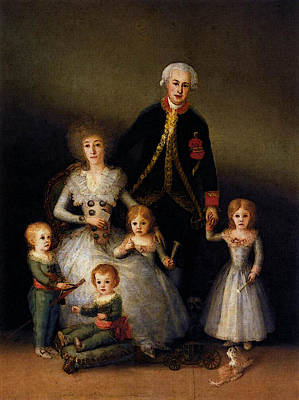 Goya Francisco De The Family Of The Duke Of Osuna Art Print by Francisco de Goya