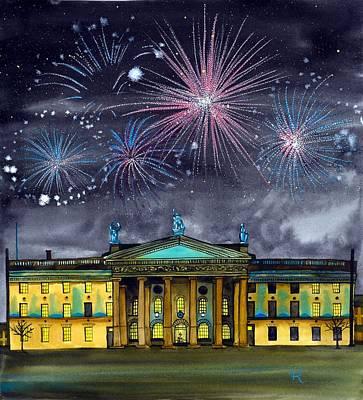 Gpo With Fireworks Original by Terri Kelleher