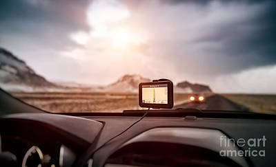 Photograph - Gps Navigator In The Car by Anna Om
