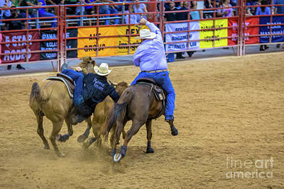 Photograph - Grab That Steer by Rene Triay Photography