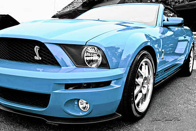 Photograph - Grabber Blue 2010 Ford Cobra Mustang Gt 500  by Joann Copeland-Paul