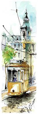 Graca Lisbon Tram Color Art Print