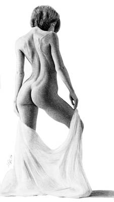 Drawing - Grace And Poise by Joseph Ogle
