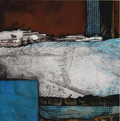 White And Blue Mixed Media - Grace And Space by Laura  Lein-Svencner