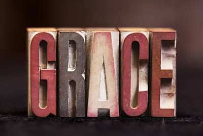 Grace - Antique Letterpress Letters Art Print