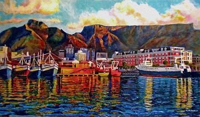 Table Mountain Painting - Grace At The Table 2.0 by Dr Michael Durst