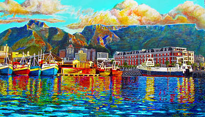 Cape Town Painting - Grace At The Table by Michael Durst
