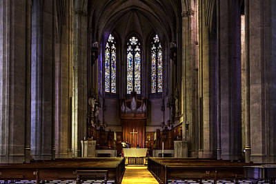 Christian Sacred Photograph - Grace Cathedral by Bill Gallagher