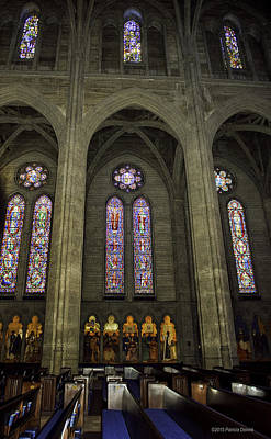 Photograph - Grace Cathedral Stained Windows by Patricia Dennis