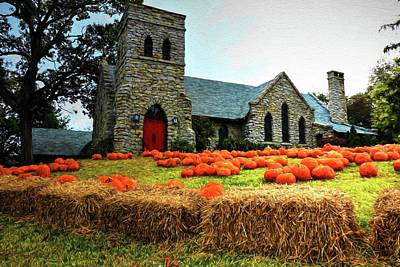 Photograph - Grace Episcopal Church Asheville North Carolina Painted by Carol Montoya