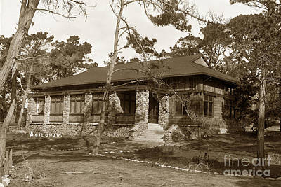 Photograph - Grace H Dodge Chapel Auditorium Asilomar Circa 1925 by California Views Mr Pat Hathaway Archives