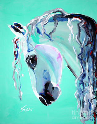Stable Painting - Grace - Horse Art By Valentina Miletic by Valentina Miletic