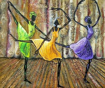 Ballet Dancers Painting - Grace II by Arthur Covington