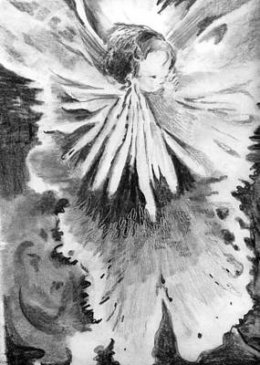 Fantasy Drawings - Grace in an Orchid by Mindy Newman