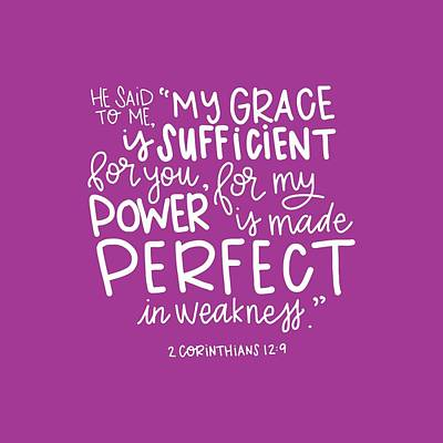 New Testament Mixed Media - Grace Is Sufficient by Nancy Ingersoll