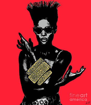 Drawing - Grace Jones Collection 1 by Sergey Lukashin