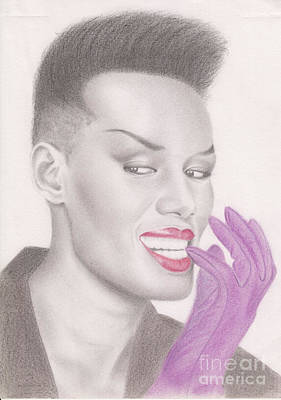 Art Print featuring the drawing Grace Jones by Eliza Lo