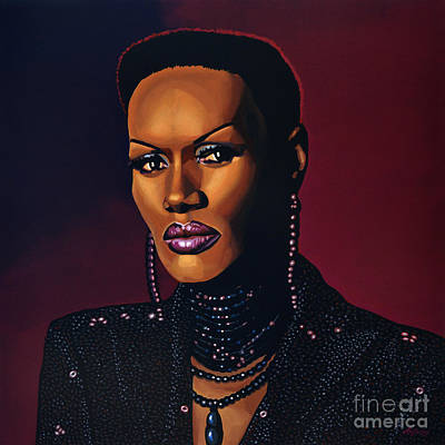 Bottle Painting - Grace Jones by Paul Meijering