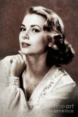 Grace Kelly, Actress, By Js Art Print