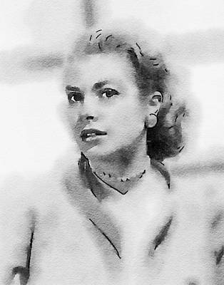 Actors Royalty Free Images - Grace Kelly by John Springfield Royalty-Free Image by John Springfield
