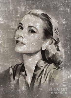Grace Kelly Painting - Grace Kelly By Mary Bassett by Mary Bassett