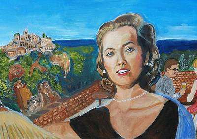Grace Kelly Painting - Grace Kelly  by Charles Paine