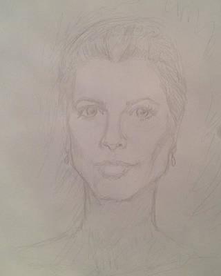 Grace Kelly Drawing - Grace Kelly by John Bichler