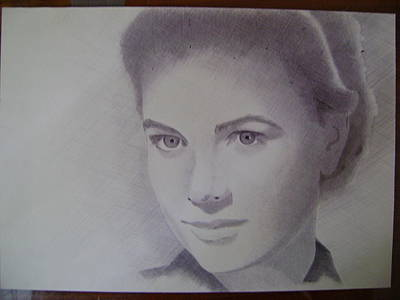 Grace Kelly Drawing - Grace Kelly by Oleg Kozelsky