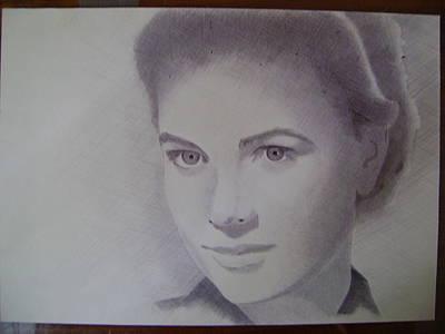 Grace Kelly Drawing - Grace Kelly by Oleg Kozelsky